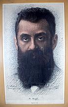 Ludwig Blum, a portrait of Herzlלודוויג בלום, דיוקן הרצל