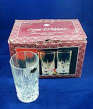 Set of 6 old high-quality crystal glasses?? 6 ????? ?????? ???????? ?????