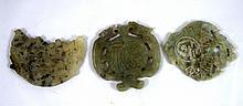 Lot 3 old Jade carvings??? 3 ?????? ?'??? ?????