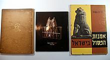 Lot 3 books about the art of sculpture Israelלוט 3 ספרים אודות אמנות הפיסול בישראל