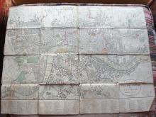 Circa 1800 Map London Darton & Harvey Westminster Southwark England