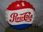 "Pepsi Bottle Cap Button Sign-26 1/2"" Aluminum-Stout Sign"