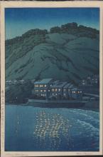 Hasui: Evening in Atami