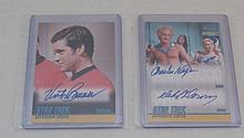 (2) Star Trek Autograph Series signed cards