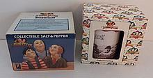 The Three Stooges Collectible Salt & Pepper Shakers and Collector's Mug