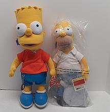 The Simpsons 300th Episode Talking Bart plush doll and Homer plush doll