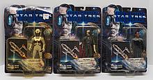 (3) Star Trek First Contact Action Figures