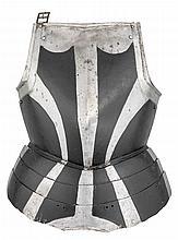A GERMAN 'BLACK AND WHITE' BREASTPLATE, CIRCA 1570-80