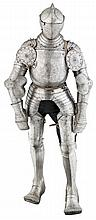 ‡ COMPOSITE SOUTH GERMAN HEAVY FIELD ARMOUR, PARTLY NUREMBERG, CIRCA 1540, WITH A NORTH ITALIAN CLOSE HELMET, CIRCA 1570
