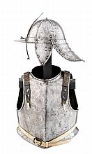 A COMPOSITE NORTH EUROPEAN HARQUEBUSIER'S ARMOUR, MID-17TH CENTURY