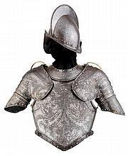 A RARE NORTH ITALIAN HALF ARMOUR, LATE 16TH / LATE 17TH CENTURY, FOR USE BY THE SWISS PAPAL GUARD