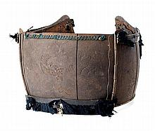 **A PORTION OF A JAPANESE CUIRASS (DÕ) AND OTHER ELEMENTS OF JAPANESE ARMOUR, EDO PERIOD, 18TH AND 19TH CENTURIES