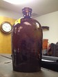 Antique Stoddard Brown Glass Bottle