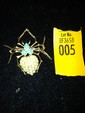 Estate 14k Gold Pin in Shape of Spider with Pearls