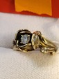 Estate 14kt Gold Ladies Diamond Ring in Shape of Rose
