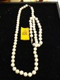Estate Ladies Pearl Necklace with Matching Bracelet