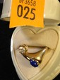 Estate 14kt Gold Ladies Ring with 2 Stones