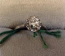Vintage Estate 18kt Gold Ladies Diamond Ring