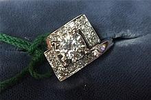 Vintage Estate 14kt Gold Ladies Diamond Ring