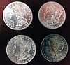 4 1882-S Morgan Silver Dollars, Brilliant Uncirculated
