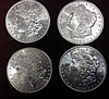 4 1982-S Morgan Silver Dollars, Brilliant Uncirculated