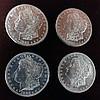 4 1882-S Morgan Silver Dollars. Brilliant Uncirculated