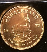 1975 Krugerrand One Ounce Gold Coin
