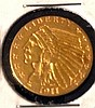 1911 $2.5 Indian Head Gold Coin