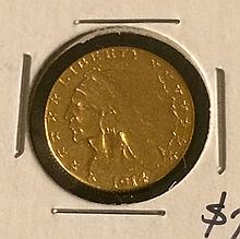 1914-D $2.5 Indian Head Gold Coin