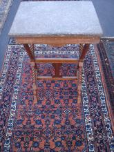 Antique Rose Colored Marble Top Table