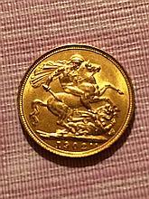1902 Gold British Sovereign