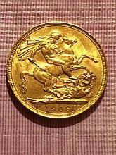 1908 Gold British Sovereign