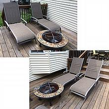 Outdoor Fireplace and Patio Furniture