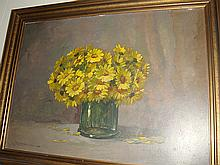 Estate Antique Oil Painting on Board