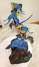 Blue Bird Decorative Bronze Sculpture