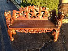Decorative Bear Bench