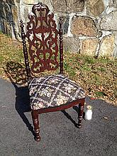 Walnut Gothic Style Child's Chair