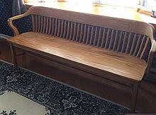 Vintage Wooden Oak Bench