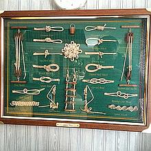 Sailor's Knots Framed Shadow Box