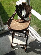 Victorian Walnut High Chair