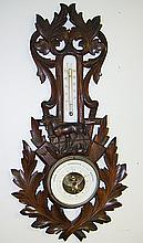 Black Forest Barometer with Horse