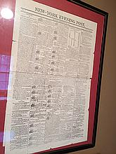 New York Evening Post, First Printing
