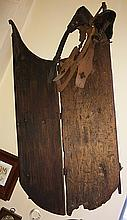 Early Antique Primitive Child's Sled and Ice Skates