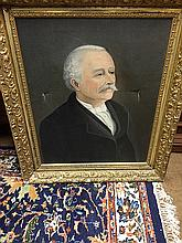Estate Vintage Portrait in Gold Gilt Frame
