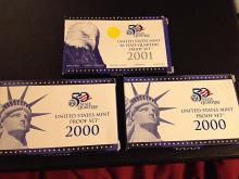 3 U.S. Proof Sets