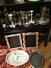 Estate Lot of Over 40 Pieces Silver Plate