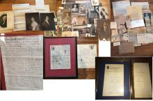 Memorabilia Lot from Estate of William Patten