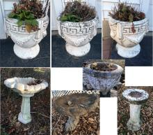 Outdoor Planters and Bird Baths
