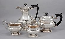 AN ENGLISH SILVER TEA AND COFFEE SET