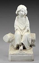 Francois- Michel Pascal (1810-1882) BISCUIT PORCELAIN FIGURE IN THE FORM OF A BOY